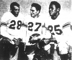 Freddie Espy (right) with Fred Crestman (left) and Art Filson was one of two Hoover returning lettermen.