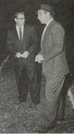 Edwards (right) with Harry West kn 1960, became Vikings'  head coach in 1961.