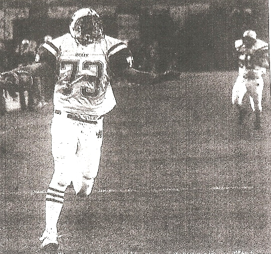 Helix' Burgi was picture of grace as he made end zone via fumblerooski.