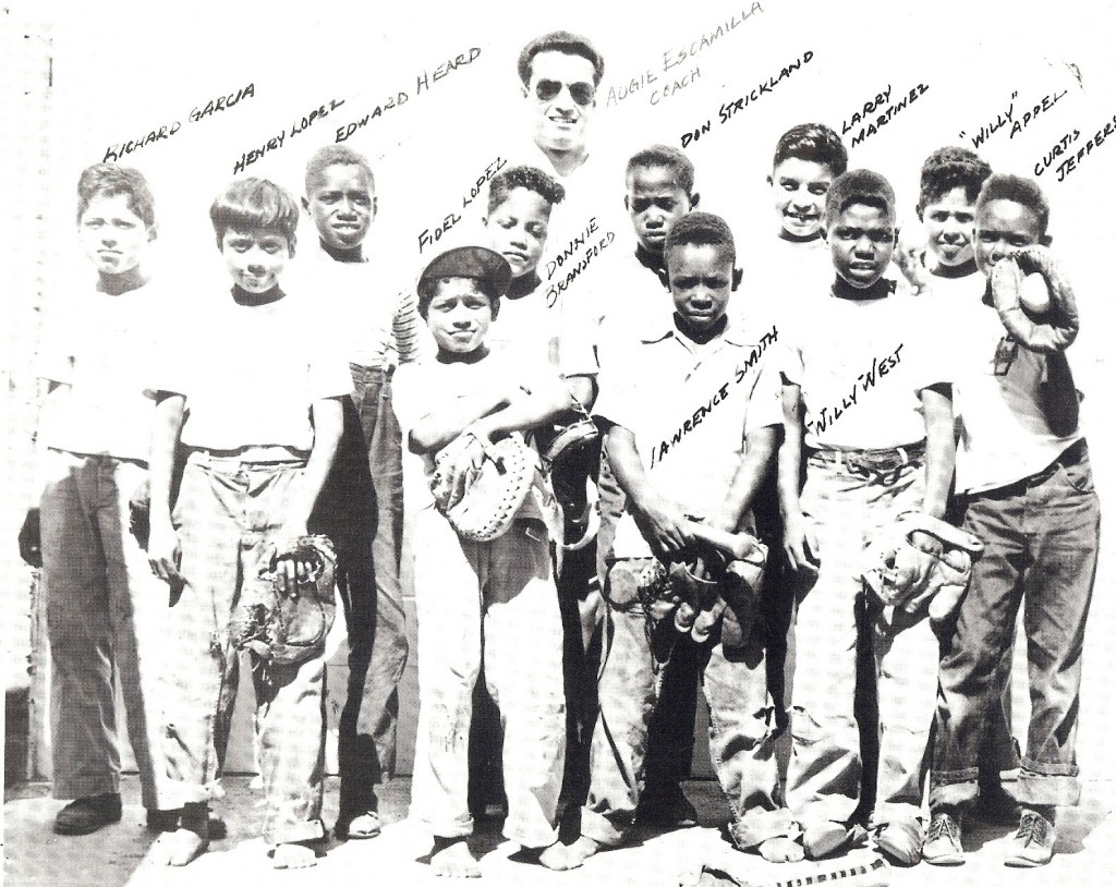 "Three of Escamilla's 1947 Boys' Club ""Bat Busters""went on to play for chmpionship San Diego High football teams, including  Eddie Heard, Don Bransford, Don Strickland, and Willie West."