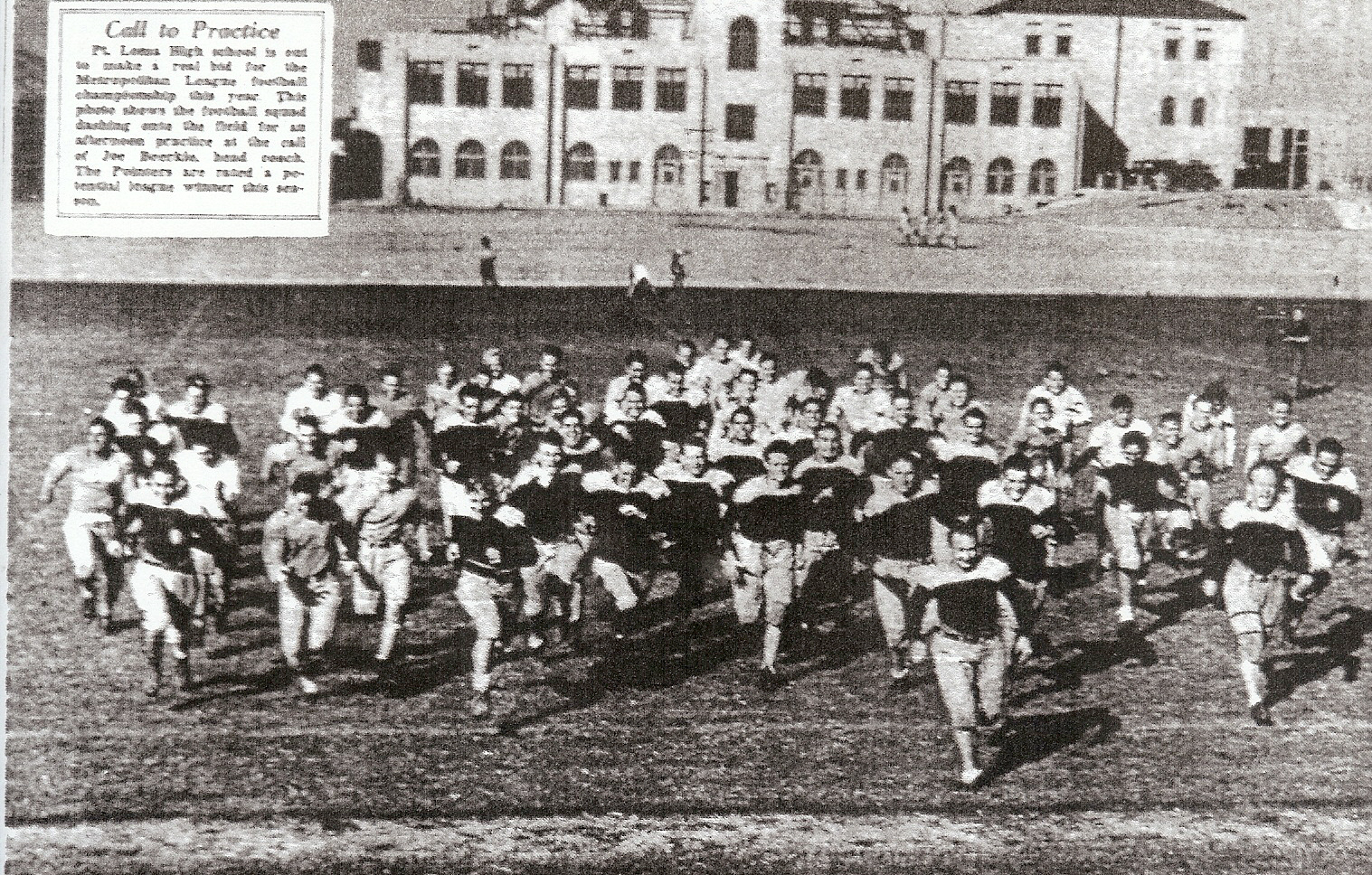 1936 Pointers charged the camera and to undefeated season.
