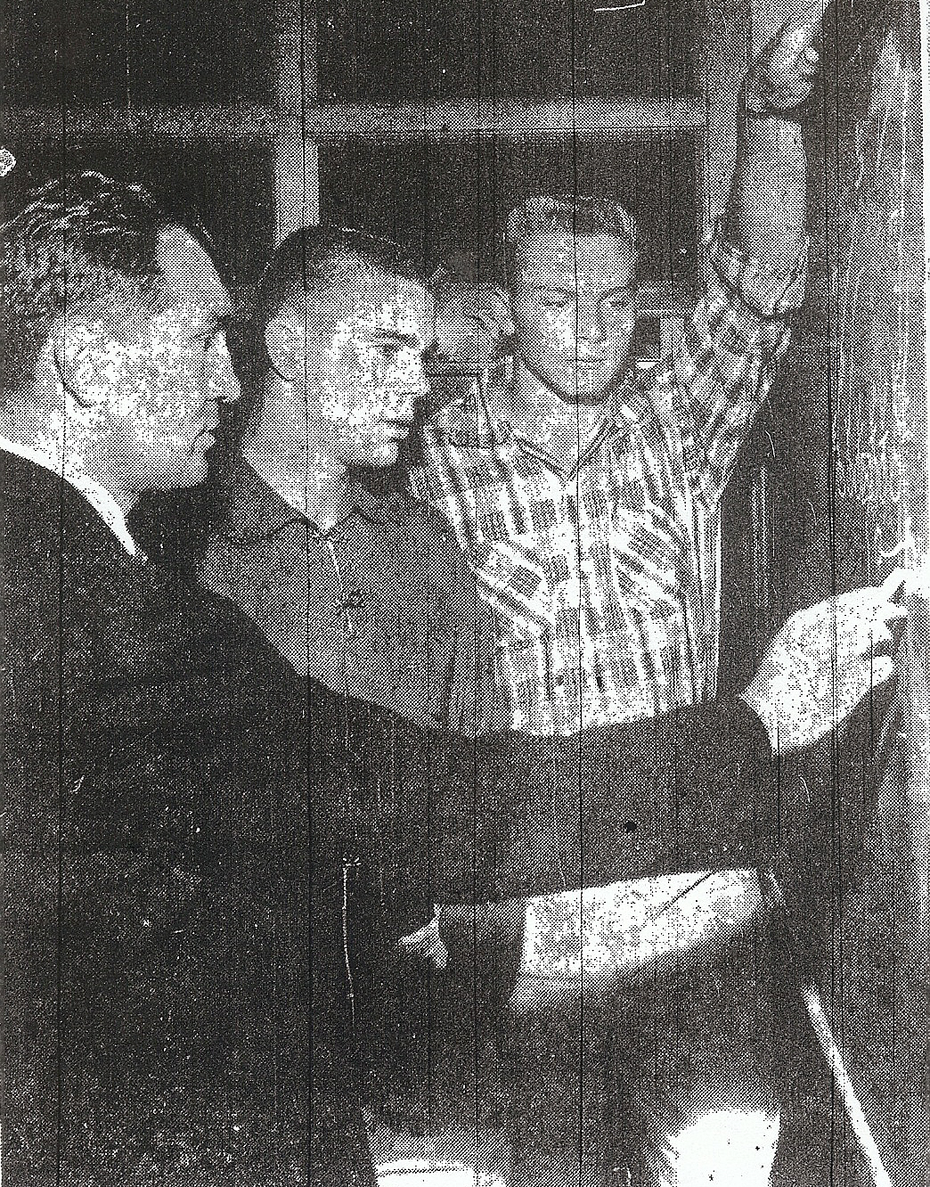 Kirchhoff designed a play Adams and Gene Leek (center) would take into the big game.