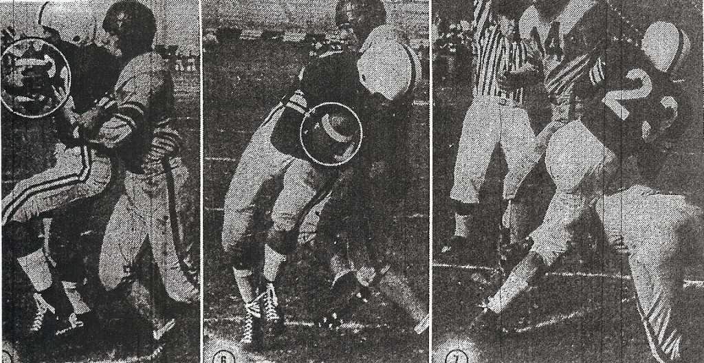 Leonard Kary breaks free from Wilkson defender Ray San Jose to score San Diego's final touchdown in 26-13 win.