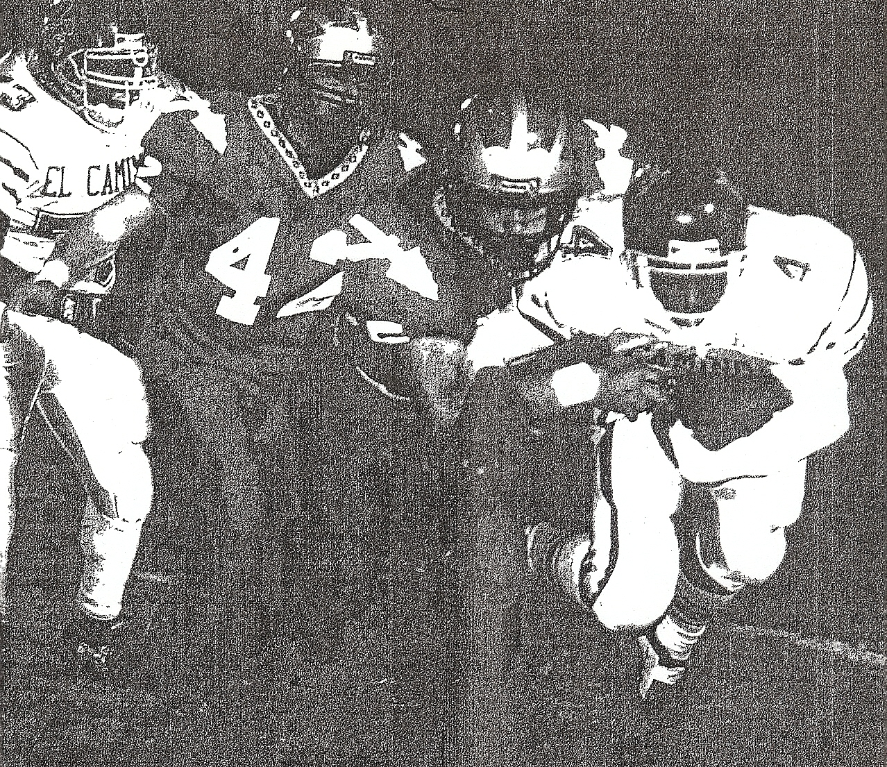 Fallbrook's Sean Sovacool, tackling El Camino's Chris Williams, was future coach.