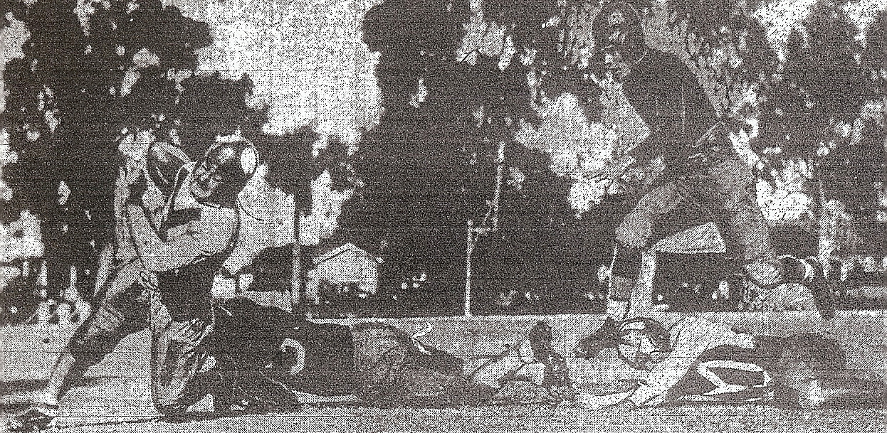 Ed Goddard attempts tackle on Coronado's Jimmy Blaisdell, who helped Islanders upset Escondido.