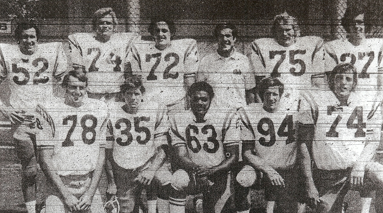 San Diegans at UCLA included, top row (from left): Tom Daniels, University; Bill Standifer, Oceanside; Tom Waddell, Oceanside; assistant coach Terry Donahue; Earl Peterson, La Jolla; Steve Bubel, Chula Vista. Bottom row (from left): Pat Callahan, Chula Vista ; Matt Fahl, Grossmont; Greg Norfleet, Morse; Paul Moyneur, Orange G;len, and Bruce Walton, Helix.