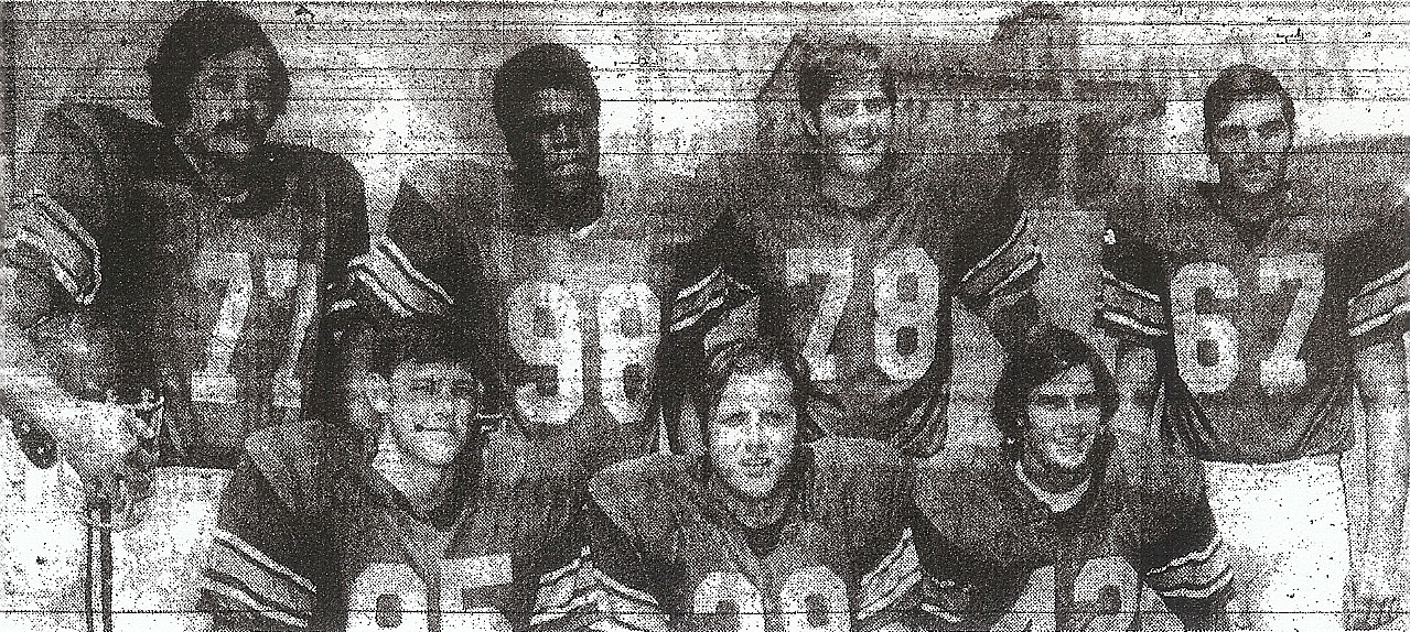 San Diegans at USC included top row (from left) Pete Adams, University; Lou Williams, San Diego; Steve Riley, Castle Park), and Jeff Flood, Escondido. Bottom row (from left) Dale Mitchell, Carlsbad; Bill Fudge, El Capitan, and Pat Collins, St. Augustine.