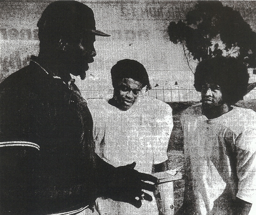 Faison (left) guided Hornets and standouts James Shelby (center) and Wally Henry.