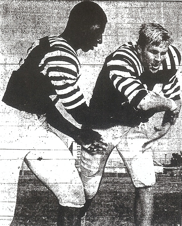 Quarterback Bolden and fullback Townsend represented two-thirds of Kerarny's ground-chewing backfield.