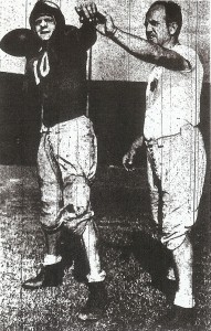 Sweetwater backed coach Lloyd Bishop (with quarterback Joe Reeves) and protested to Metropolitan League.