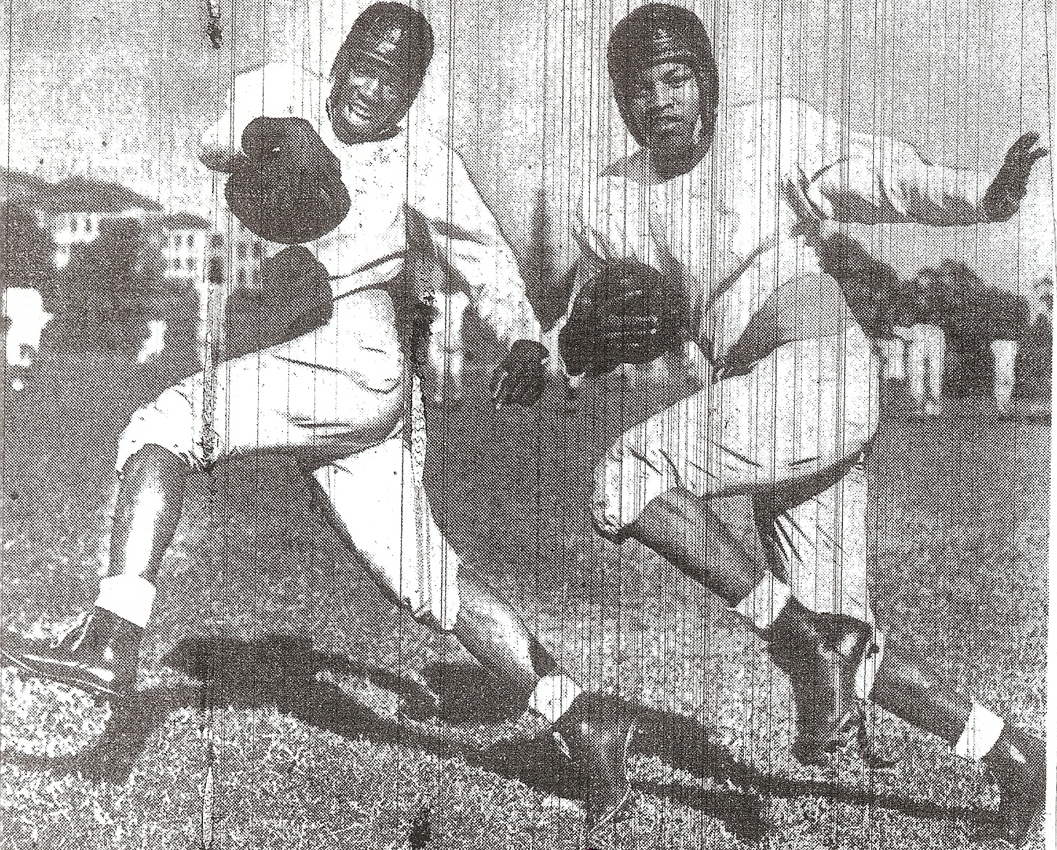 Joe Brown (left) and Ted Ritchey were Hillers' main ball carriers.