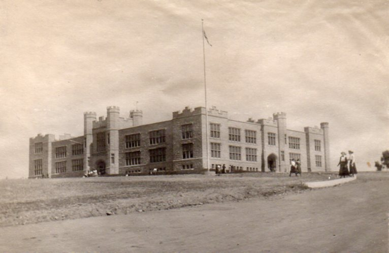 The new Grey Castle, which opened with the 1907 school year and replaced original, 1882 building.