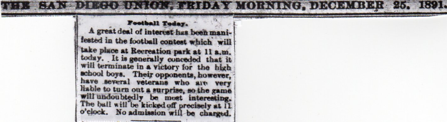 The first game, as seen in advance by The San Diego Union.